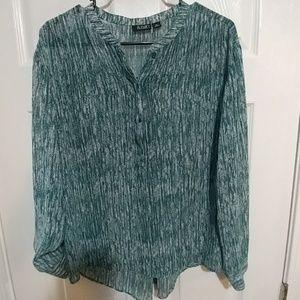 A.N.A sheer blouse Sz PL